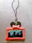 Clay Keychain: Minnie Mouse Photo frame