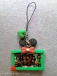 Clay Keychain: Minnie Mouse Photo Frame (green)